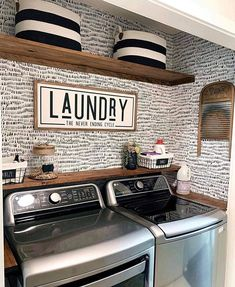 Laundry Nook, Laundry Room Shelves, Laundry Room Remodel, Laundry Decor, Laundry Room Organization, Laundry Room Design, Laundry Room Decorations, Organized Laundry Rooms, Laundry Room With Sink