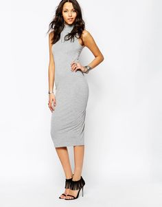 Image 4 ofBoohoo Sleeveless Bodycon Midi Dress