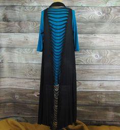 Slit-Back Black Shawl-Vest