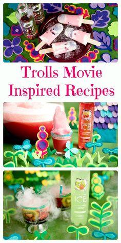 DreamWorks Trolls Movie Inspired Recipes.  Fun Trolls party ideas and kid friendly #recipes.