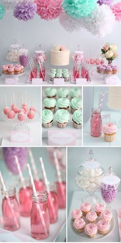 Maybe a little less pink! Chris might not like it. Candybar inspiration from to . - Maybe a little less pink! Chris might not like it. Candybar inspirations from sugar monarchy - Fiesta Shower, Party Fiesta, Shower Party, Shower Cake, Candy Table, Candy Buffet, Candy Bar Party, Food Buffet, Buffet Tables