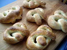 Soft pretzels!  These were delicious right out of the oven!  Second day, they taste more like rolls, but still delicious!