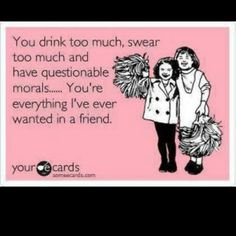 Funny E Card about my friend Funny pictures I Love My Friends, My Best Friend, My Love, True Friends, Close Friends, Amazing Friends, Crazy Friends, Just For Laughs, Just For You