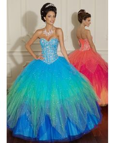 Orange/Gold Quinceanera dress ~ Quinceanera dresses from Q by ...