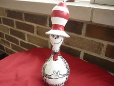 The Cat In The Hat handpainted gourd by JulieBArt on Etsy, $30.00