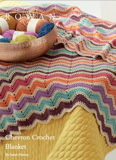 The Vintage Pattern Files Free 1970's Crochet Pattern - 1970's Style Cheveron Afghan Blanket