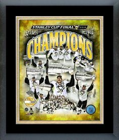 """Pittsburgh Penguins 2016 Stanley Cup® Champions - 11x14 Framed/Matted """"LE"""" 5000"""
