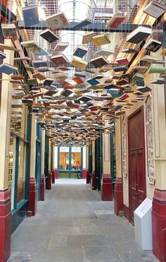 Books in Leadenhall Market, London. (Used in Harry Potter films)