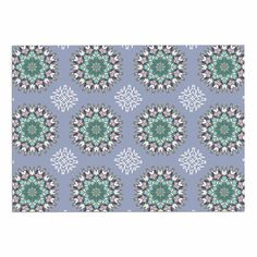 KESS InHouse Nika Martinez 'Princess in Purple' Green Arabesque Dog Place Mat, 13' x 18' ** Check out this great image  : Dog food container