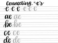 A Drive-elem indexkép-előnézete Brush Lettering Worksheet, Lettering Guide, Bullet Journal Lettering Ideas, Hand Lettering Practice, Bullet Journal Ideas Pages, Lettering Design, Calligraphy Worksheet, Hand Lettering For Beginners, Hand Lettering Tutorial