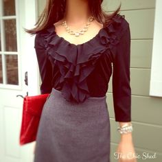🚨‼️SALE ‼️🚨WHBM Black Chiffon Ruffled Top Classic and stylish. Feminine ruffle in black chiffon in a v-neck design. Ruffles cascade down to bottom. Comfortably stretchy top. Worn once, like new! 👗The Chic Shed; A Current and Classic Fashion Curation. 👗 🎁10% OFF BUNDLES🎁 I ❤️ THE OFFER BUTTON😊 ❌NO PP, TRADES, HOLDS❌  💖15% OFF RETURN BUYER BUNDLES💖 White House Black Market Tops Blouses