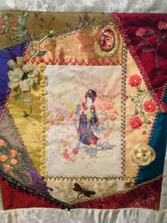 Block 8 Asian Riches by Gloria McKinnon ...stitched by Avis Withers