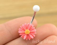 belly button jewelry,little daisy belly button rings, navel ring,daisy piercing belly ring,flower friendship gift on Etsy, $4.99