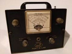 Vintage ECI Courier Port-A-Lab Test Meter in Great Condition! FREE SHIPPING! #ECI  http://www.medusamaire.com/treasures/ to see all of Medusa Maire's items for sale!