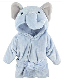 Hudson Baby Unisex Baby Plush Animal Face Robe, Blue Elephant, One Size, Months: Clothing fashion baby cute outfits for baby baby boy stuff baby boy clothes The Babys, Plush Animals, Baby Animals, Baby Unisex, Baby Flannel, Baby Warmer, Animal Faces, Cute Baby Clothes, Babies Clothes