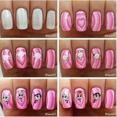 Cartoon Nail Designs, Girls Nail Designs, Nail Art Designs Videos, 3d Nail Art, Nail Arts, Girls Nails, Best Acrylic Nails, Beautiful Nail Art, Nail Tutorials