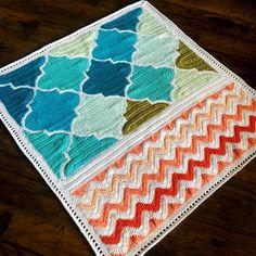 Patroon - BabyLove merk Trellis en Chevron deken - haak patroon/Tutorial - rechthoek-throw - deken is ook beschikbaar