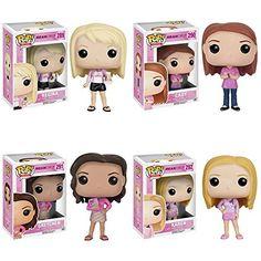 Mean Girls Regina, Cady, Gretchen, Karen Pop! Vinyl Figures Set of 4 Regina George, Mean Girls, Funko Pop Dolls, Custom Funko Pop, Pop Figurine, Funk Pop, Disney Pop, Pop Toys, Pop Characters