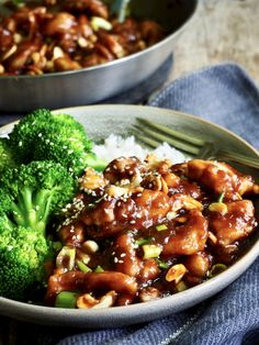 Kylling med cashewnøtter Kung Pao Chicken, Beef, Ethnic Recipes, Food, Red Peppers, Meat, Essen, Meals, Yemek