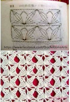 Another crochet stitch pattern, diagram providedThis would make a nice fancy-shmancy scarf.LOVE this Crochet Stitch: Butterflies! Multiples of or 11 if in the round. Chart is included in this image.Crochet stitches to learn Mais MaisTina's handicraft Crochet Motifs, Crochet Diagram, Crochet Stitches Patterns, Crochet Chart, Crochet Designs, Stitch Patterns, Knitting Patterns, Knitting Stitches, Beau Crochet