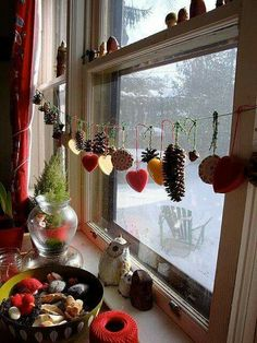 Tratti D Inverno Natural Christmas Decorationswinter Decorationshouse
