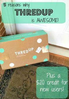 5 Reasons why ThredUp is Awesome! + $20 Credit for Readers