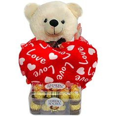 Love Cushion & Chocolate Rs 1699/- http://www.tajonline.com/valentines-day-gifts/product/v2998/love-cushion-chocolate/?aff=pint2014/