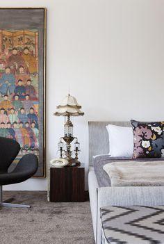 Bedroom in David Hicks' Melbourne penthouse...
