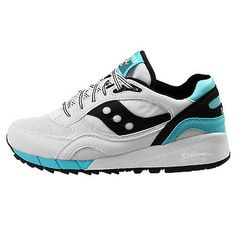 Saucony Shadow 6000 Mens S70007-75 White Black Blue Running Shoes Size 9