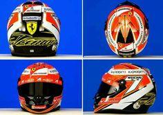 Kimi Raikkonen's 2014 helmet.
