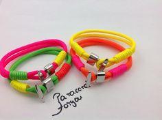 Damen und Kinder Paracord Armband - Neonfarben von Paracordforyou auf DaWanda.com