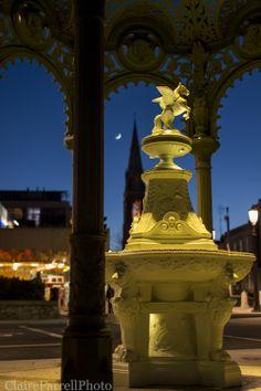 Dun Laoghaire at dusk Dublin City, Famous Artists, Dusk, Sunsets, Ireland, Statue, Irish, Sculptures, Sunset