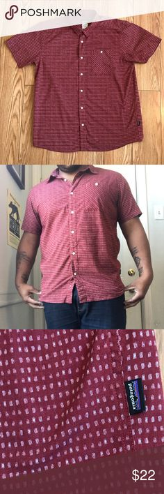Patagonia Organic Cotton Short Sleeve Patagonia Short sleeve casual button down. This stylish button down is perfect for the summer. The subtle dot pattern and flattering fit will make this a daytime go to. Pair this with some khaki shorts and boat shoes for an urban day party swag. Patagonia Shirts Casual Button Down Shirts