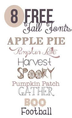 The best free fonts for fall to use for fall projects, designs, and decor./ I wld love to have all fonts for my laptop. Website Design, Web Design, Type Design, Graphic Design, Fall Fonts, Typographie Fonts, Computer Font, Pattern Texture, Best Free Fonts