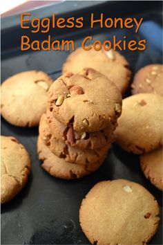 Baking soda biscuits honey 61 ideas for 2019 Eggless Cookie Recipes, Eggless Baking, Baking Recipes, Snack Recipes, Dessert Recipes, Baking Ideas, Almond Meal Cookies, Honey Cookies, Healthy Cookies