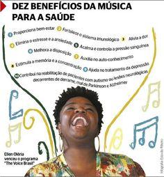 """Vencedora do programa """"The Voice Brasil"""", a cantora Ellen Oléria teve a voz exaltada pelo jurado Carlinhos Brown além da qualidade artística. """"Ela é uma voz..."""