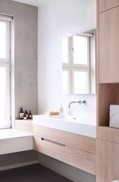 #bathroom #wood #contemporary #modern #mirror #simple #simplicity