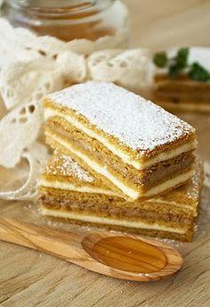 Medena pita / Honey Cake (scroll down for English) Pita Recipes, Sweet Recipes, Baking Recipes, Cookie Recipes, Croation Recipes, Croatian Cuisine, Bosnian Recipes, Kolaci I Torte, Honey Cake
