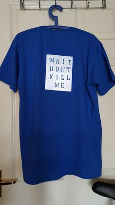 Large (L) Size Royal Blue short sleeved T-shirt with a Silver Hivis  Reflective sticker affixed to the back. The Hivis Reflective sticker is  14cm x 18cm with ... 95ad215f475f