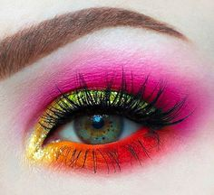 YUM! @karissa_mua used the Radioactive stack all over her eye 💖💛💚🍊 #meltcosmetics #meltradioactive