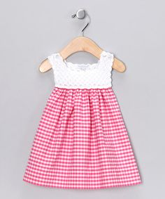 Hug Me First Fuchsia Analee Crocheted Dress - Infant by Hug Me First #zulily #zulilyfinds