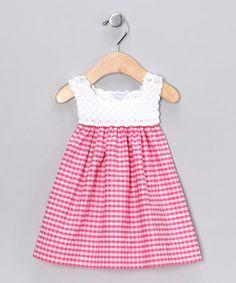Hug Me First Fuchsia Analee Crocheted Dress - Infant by Hug Me First #zulily #zulilyfinds