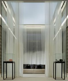 Interior of the Chanel store on 57th Street, New York by Peter Marino. Classical yet modern.