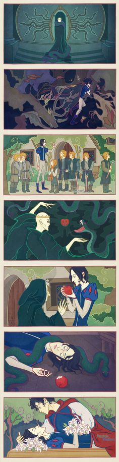 Snape White and the Seven Weasleys by AnastasiaMantihora.deviantart.com on @DeviantArt