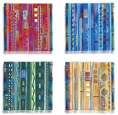 wall panel color series set by mark ditzler art glass wall sculpture