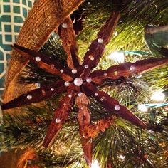 I love how this inexpensive craft turned out!. Diy, Tutorial, Ornament, Star, Clothes, Tuto,