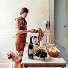 Cooking. The interiors of the home of food writer Mimi Thorisson - which she shares with husband, 7 children and 9 dogs. Interior design inspiration from real homes on House & Garden.