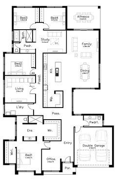 Iconic - Dechellis Homes Family House Plans, Dream House Plans, Modern House Plans, Small House Plans, House Floor Plans, The Sims, I Love House, Ideal House, Full House