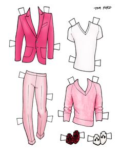 DANIELLE MEDER SS14 Menswear Paper Doll – Balmain and TOM FORD   3