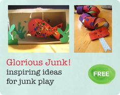 FREE PDF download with ideas and offers  for fun and creative junk modelling ideas that you can enjoy with your children.